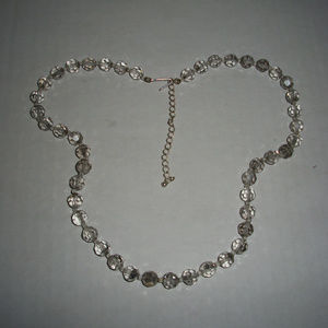 Vintage AB Faceted Glass Crystal Necklace
